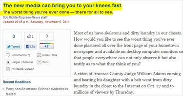San Antonio Express-News Public Editor on Judge William Adams Video