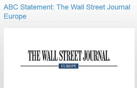 Wall Street Journal Europe's Circulation Deal OK, says Auditor