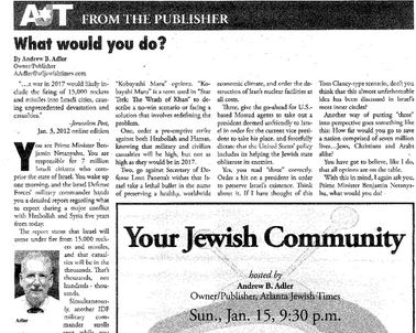 Jewish Times Apologizes, Retracts Story Suggesting a 'Hit' on Obama