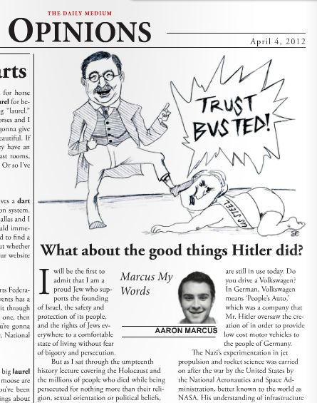 Jewish Rutgers Student Files Bias Complaint after Satire Article Praising Hitler