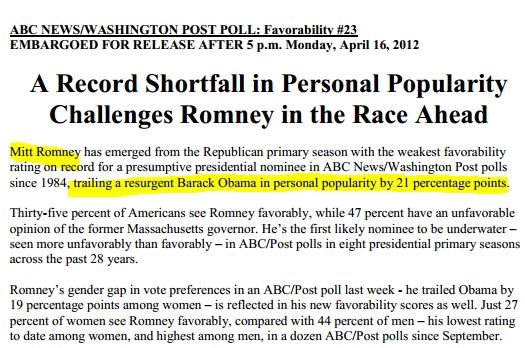 Ignore Romney's Low Favorability Ratings