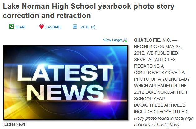 Charlotte TV News Retracts, Corrects, Apologizes Claims High School Student Intentionally Flashed Camera