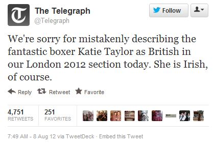 UK Daily Telegraph Apologizes for Calling Irish Boxer British