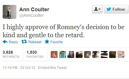 Globe and Mail Public Editor on Coulter's 'Retard' Tweet
