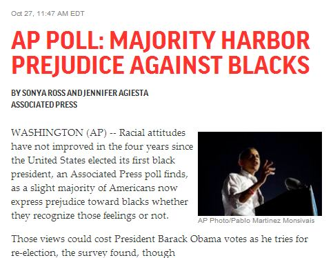 What the AP Poll on Racial Attitudes Really Tells Us, Part 1