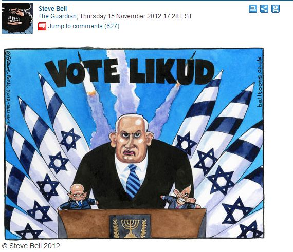 Guardian Cartoonist: Netanyahu Cartoon Not Anti-Semitism