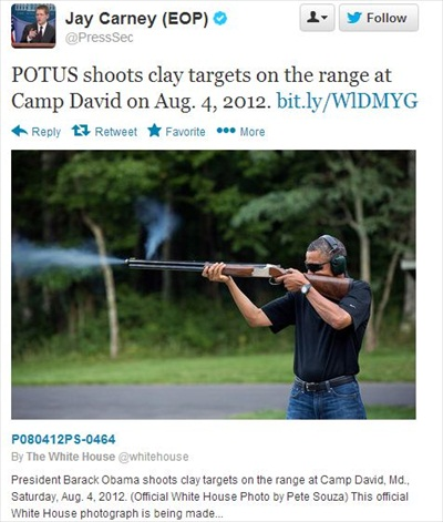 Gun Barrel Smoke NOT Fake in Obama's WH Skeet Shooting Photo, says Head of National Skeet Shoot Assn