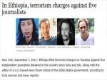 Ethiopian Journalists Arrested, Accused of Terrorism