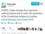 WikiLeaks' Assange Appeals to Ecuador for Political Asylum