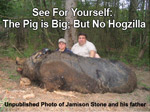 """The Monster Pig Photo's a Fake:""  Reader's Comments"