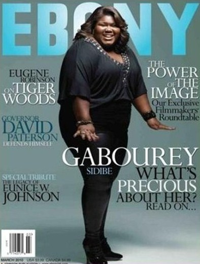 Ebony depicted the actress in full form for its cover (Credit: Womanist Musings, Ebony)