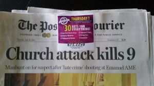 charleston shootings, post and courier, gun ad