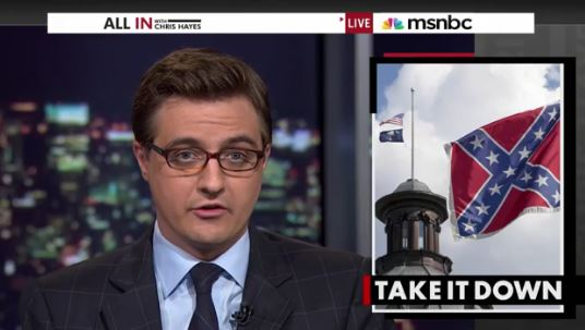 Chris Hayes, Bill o'reilly, msnbc, all in, confederate flag