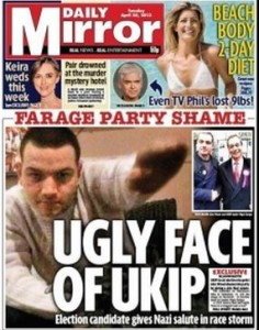 The Daily Mirror's 2013 front page (Via Press Gazette)