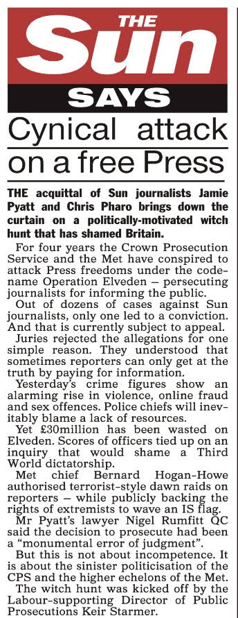 Today's Sun column on the verdicts.