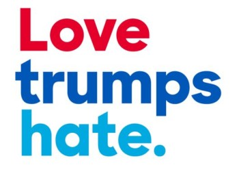 Love trumps hate. Source: imediaethics.org
