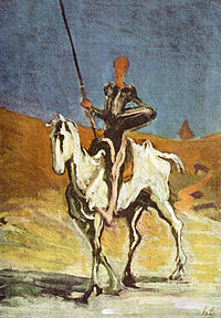Don Quixote by Honoré Daumier, 1868 (Credit: Wikipedia)