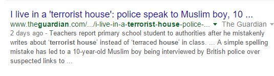 A Google search for the Guardian article produces it (Credit: Google , screenshot)