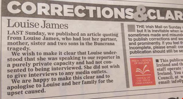 The Mail on Sunday apology (Via the Examiner)