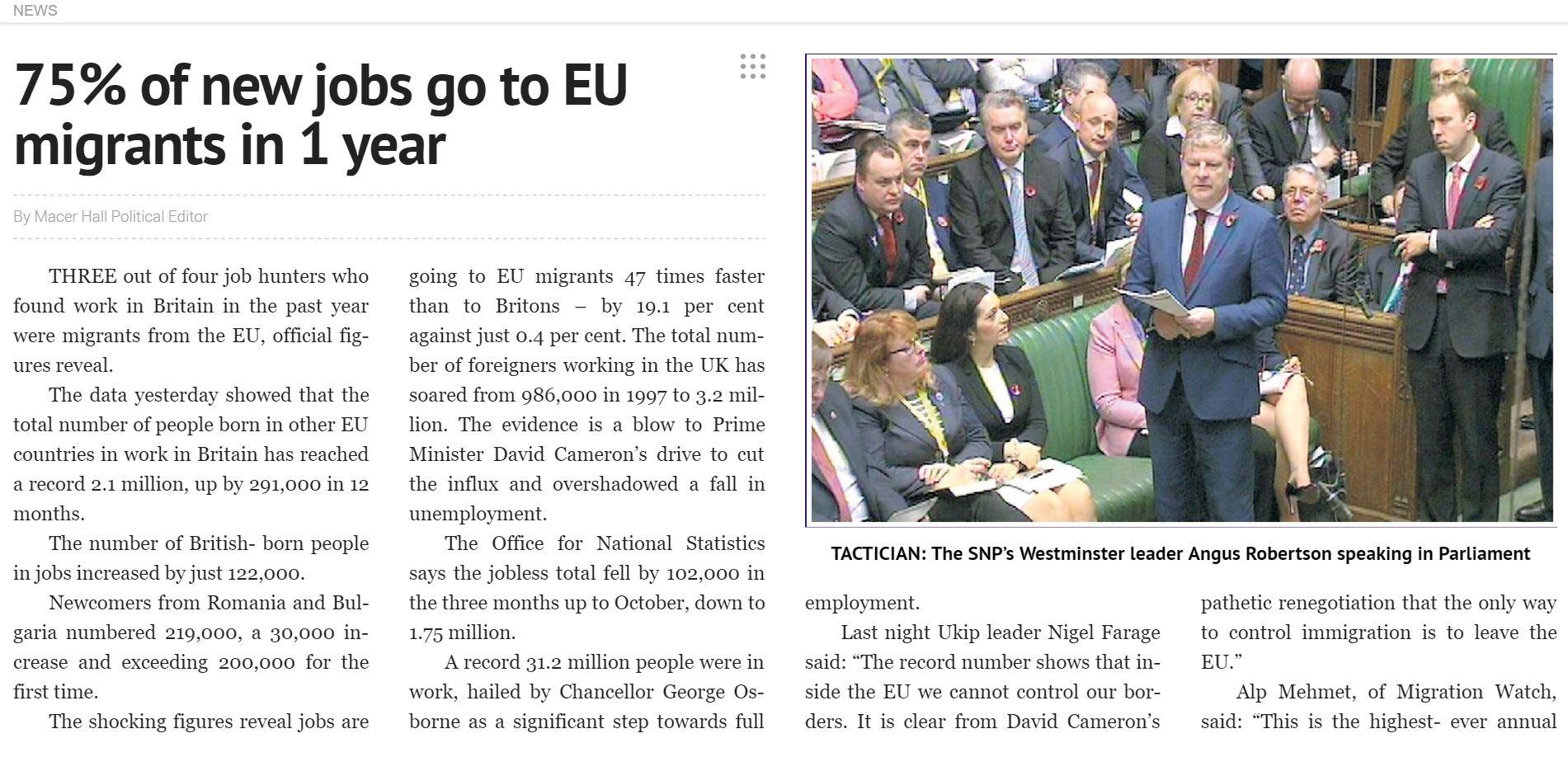 The Express's Nov. article (Credit: Express via PressReader.com)