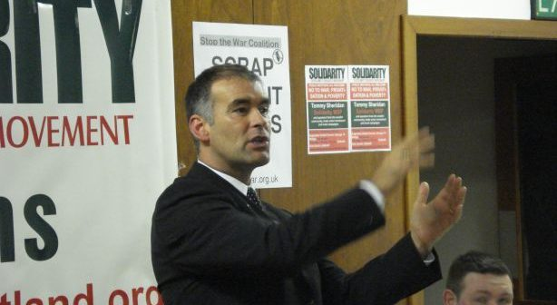 Tommy Sheridan in 2007 (Credit: Wikipedia)