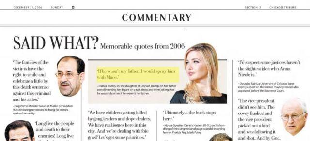 The 2006 Chicago Tribune report (Credit: Esquire, screenshot)