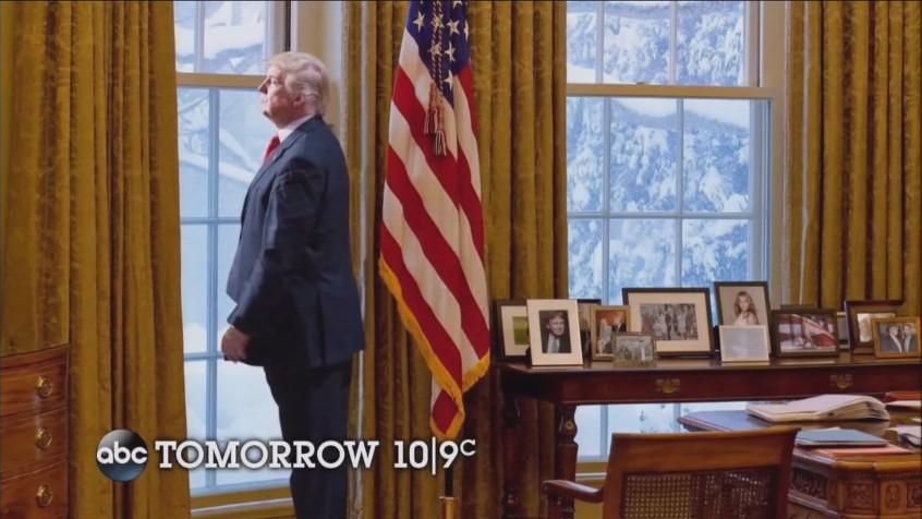 The fake Trump photo. (Credit: ABC News via TV Newser)