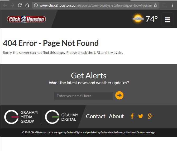 The old link with $500 million in the URL goes to an error page.
