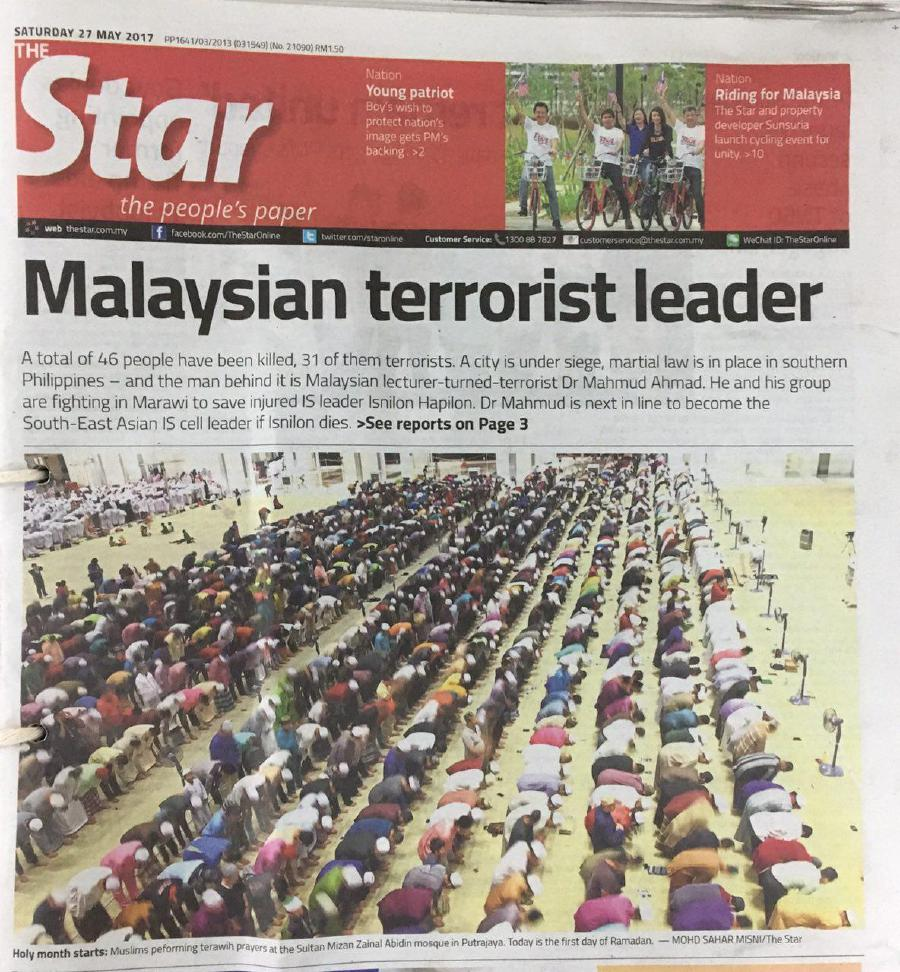 malaysian daily star apologizes after pairing muslim