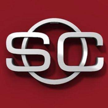 ESPN SportsCenter shows LeBron James, Anthony Davis Fake