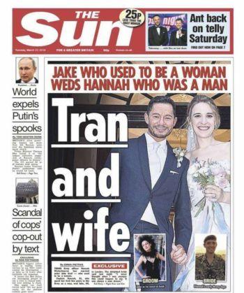 Sun 'Tran and Wife' Headline on Wedding Notice got 7 complaints to
