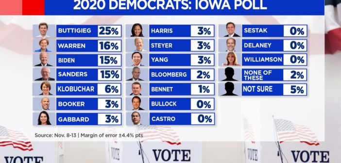 MSNBC didn't include Andrew Yang in 2020 graphic