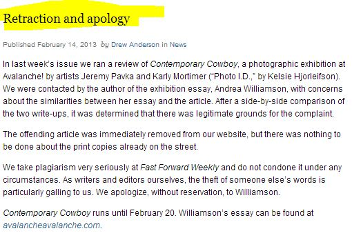 cowboy photo essay stolen canadian fast forward magazine admits  cowboy photo essay stolen canadian fast forward magazine admits plagiarism