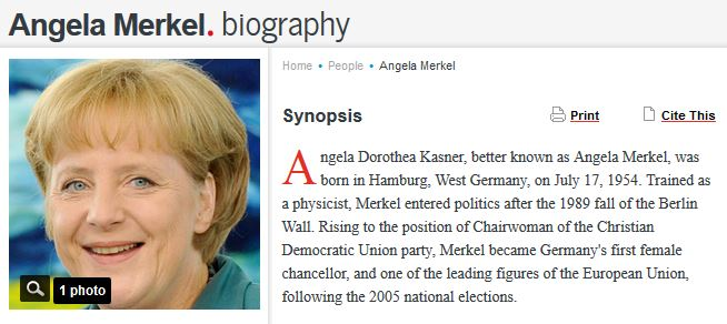The Hollywood Reporter Called Angela Merkel Andrea
