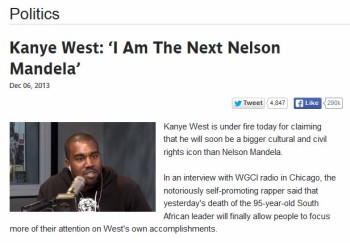 2 African News Sites Hoaxed By Kanye West Nelson Mandela Satire