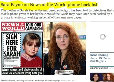 Did NOTW Hack Phone it Gave Murdered Girl's Mother? gmail, youtube